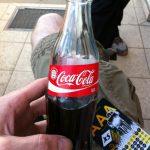 Coke in a glass bottle after work - a treat